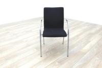 Black Fabric / Chrome Office Meeting Chairs - Thumb 4