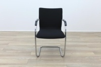 Brunner Black Fabric Cantilever Meeting Chair - Thumb 4