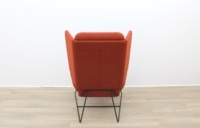 Big Red and Grey Reception Chairs With Metal Frame - Thumb 6