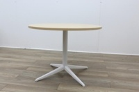 Maple Round Table With White Frame - Thumb 3