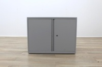Off White Metal 730mm Two Doors Office Storage Cupboards - Thumb 2