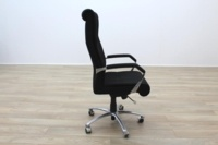 President High Back Black Fabric Executive Office Task Chair - Thumb 5