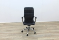 Black Leather Operator/Executive Chairs - Thumb 2