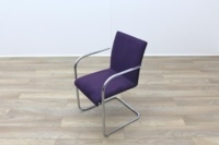 Brunner Purple Velour Meeting Chair - Thumb 3