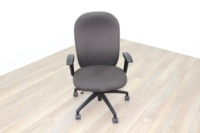 Verco Brown Fabric Operator Chair - Thumb 2