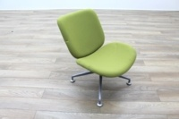 Orangebox Track Green Fabric Office Reception Tub Chairs - Thumb 5