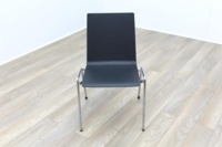 Brunner Dark Grey Chrome Frame Meeting Chair - Thumb 2
