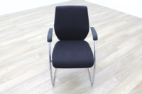 Orangebox Black Fabric Cantilever Office Meeting Chair - Thumb 2