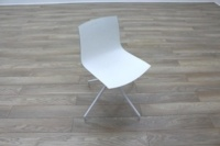 Arper Catifa 46 White Office Canteen / Meeting Chair - Thumb 2