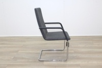 Brunner Fina Grey Fabric Cantilever Meeting Chair - Thumb 6