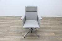 Brunner Grey Leather Meeting Chair - Thumb 4