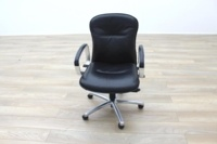 Black Faux Leather Executive Office Task Chairs - Thumb 4