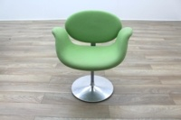 Artifort Little Tulip Chair, Green Fabric Office Reception - Thumb 4