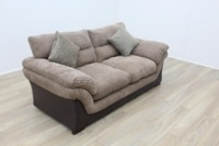 Brown Fabric Sofa - Thumb 2