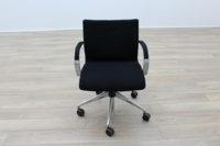 ICF Black Fabric Executive Office Task Chairs - Thumb 5