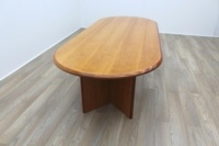 Cherry Veneer 2500mm Racetrack Executive Office Meeting Table - Thumb 3