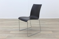 Brunner Mahogany Seat Chrome Legs Meeting Chair - Thumb 3