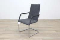 Brunner Fina Grey Fabric Cantilever Meeting Chair - Thumb 3