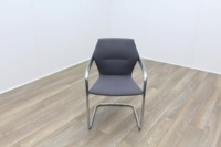 Brunner Grey Fabric Cantilever Meeting Chair - Thumb 2