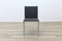 Brunner Oak Back Grey Fabric Back Meeting Chair - Thumb 4