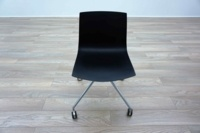 Aper Catifa 46 Black Plastic Office Meeting Chairs - Thumb 3