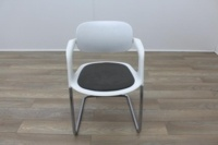 Allermuir A781 White with Grey Seat Meeting Chair - Thumb 4
