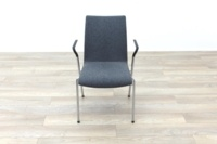 Brunner Light Grey Fabric Meeting Chair with Armrests - Thumb 4