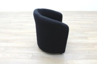 Black Fabric Office Reception Tub Chairs - Thumb 4