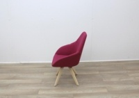 Pink Fabric Reception Chair - Thumb 4