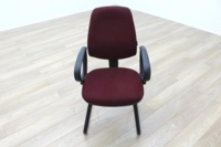 President Burgundy Fabric Office Meeting Chairs - Thumb 2