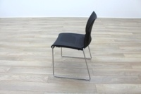 Icon Patra Black Office Canteen Chairs - Thumb 4