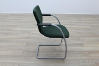 Orangebox X10 Green Fabric Cantilever Stacking Office Meeting Chairs - Thumb 6