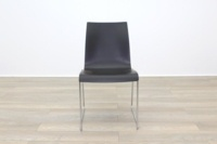 Brunner Mahogany Seat Chrome Legs Meeting Chair - Thumb 4