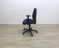 Blue Fabric Multifunction Office Task Chair - Thumb 6
