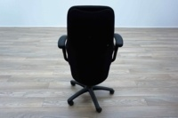 Black Fabric High Sculpted Back Multifunction Office Task Chairs - Thumb 5