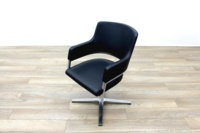 Brunner Black Leather Self Centering Executive Meeting Chair - Thumb 3