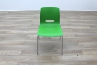 Allermuir Casper Green Shell Chrome Frame Office Meeting / Canteen Chairs - Thumb 6