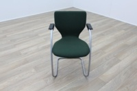 Orangebox X10 Green Fabric Cantilever Stacking Office Meeting Chairs - Thumb 3