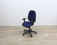 Blue Fabric Multifunction Office Task Chair - Thumb 7