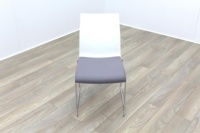 Brunner Blue and White Back with Grey Leather Seat Meeting Chair - Thumb 2