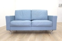 Poltrona Frau Blue Leather Executive Office Sofa - Thumb 7