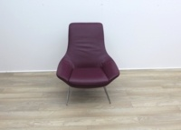 Walter Knoll Flow Armchair in Oxblood Leather - Thumb 2