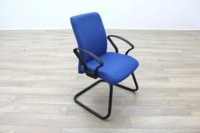 Blue Fabric Cantilever Office Meeting Chair - Thumb 5