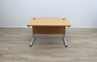 Beech Cantilever Desks With Courtesy Panel - Thumb 2