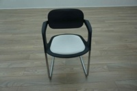 Allermuir A781 Black / White Office Stacking Meeting Chairs - Thumb 3