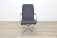 Brunner Dark Grey Leather High Back Executive Chair - Thumb 4