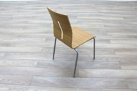 Beech Bentwood Stacking Office Canteen Chairs - Thumb 7