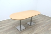 Beech Racetrack Office Meeting Table - Thumb 4
