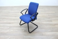 Blue Fabric Cantilever Office Meeting Chair - Thumb 3