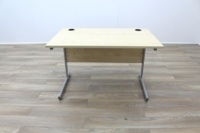 Maple 1200mm Cantilever Straight Office Desks - Thumb 3